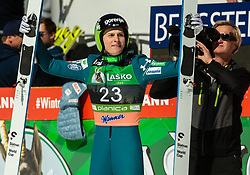 Domen Prevc (SLO) celebrates after placed second during the Ski Flying Hill Individual Competition at Day 4 of FIS Ski Jumping World Cup Final 2019, on March 24, 2019 in Planica, Slovenia. Photo by Vid Ponikvar / Sportida