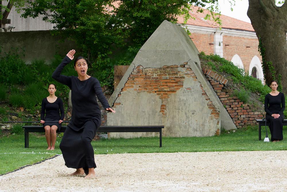 56th Art Biennale in Venice - All The World's Futures.<br /> Arsenale.<br /> Lemi Ponifasio, &quot;LAGIMOANA&quot;, 2015.