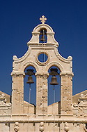 The ornate Venetain belltower of the Arhkadhi Monastery ( Moni Arkadhi)<br /> twenty-five miles from Rethymnon, Crete, Greece