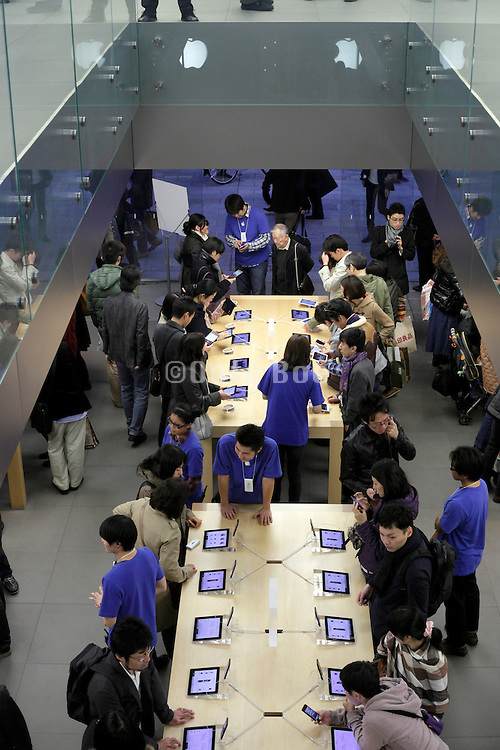 Apple store in Ginza shopping district Tokyo Japan
