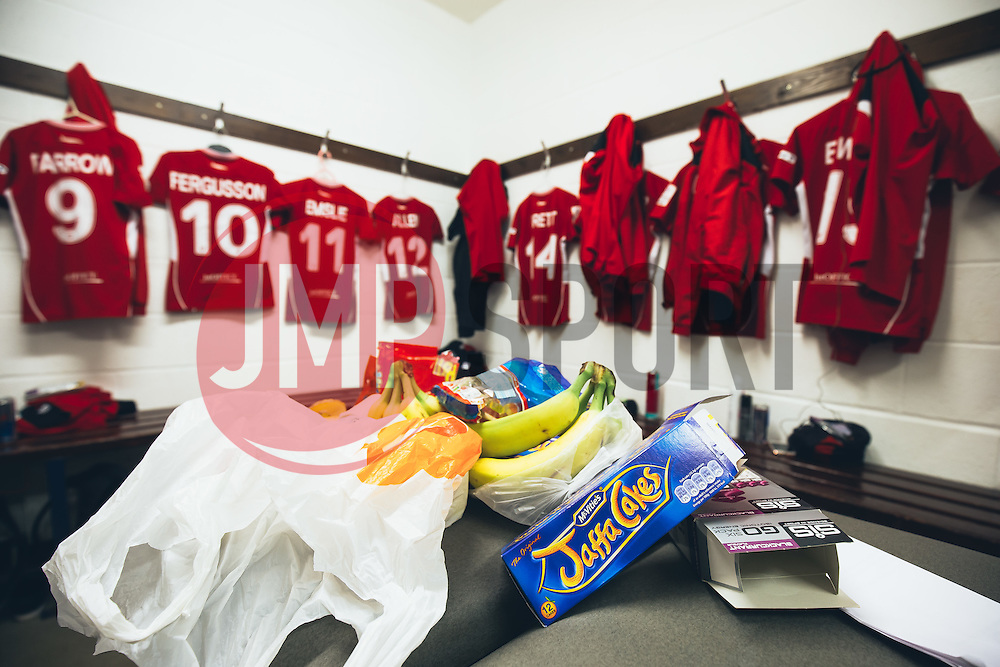 A look inside the Bristol City Women dressing room - Rogan Thomson/JMP - 06/11/2016 - FOOTBALL - The Northcourt Stadium - Abingdon-on-Thames, England - Oxford United Women v Bristol City Women - FA Women's Super League 2.