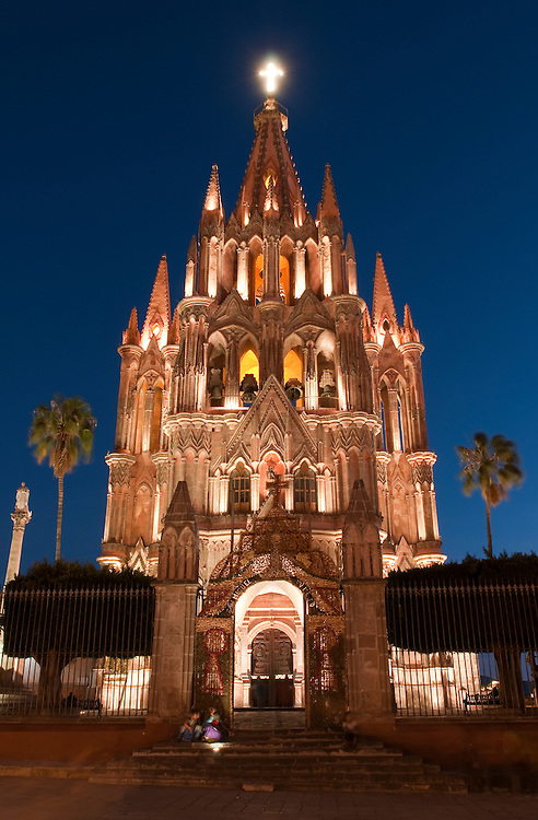 La Parroquia, Church of St. Michael the Archangel, San Miguel de Allende, Guanajuato, Mexico.