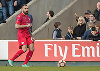 Football - 2016 / 2017 FA Cup - Fifth Round: Millwall vs. Leicester City <br /> <br /> Marcin Wasilewski of Leicester City at The Den<br /> <br /> COLORSPORT/DANIEL BEARHAM