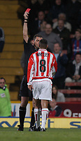 Photo: Alan Crowhurst, Digitalsport<br /> NORWAY ONLY<br /> <br /> CRYSTAL PALACE V SUNDERLAND, Nationwide Division One, 21/04/2004. JEFF WHITLEY IS SENT OFF AFTER ARGUING WITH THE REF AFTER A PENALTY DECISION.