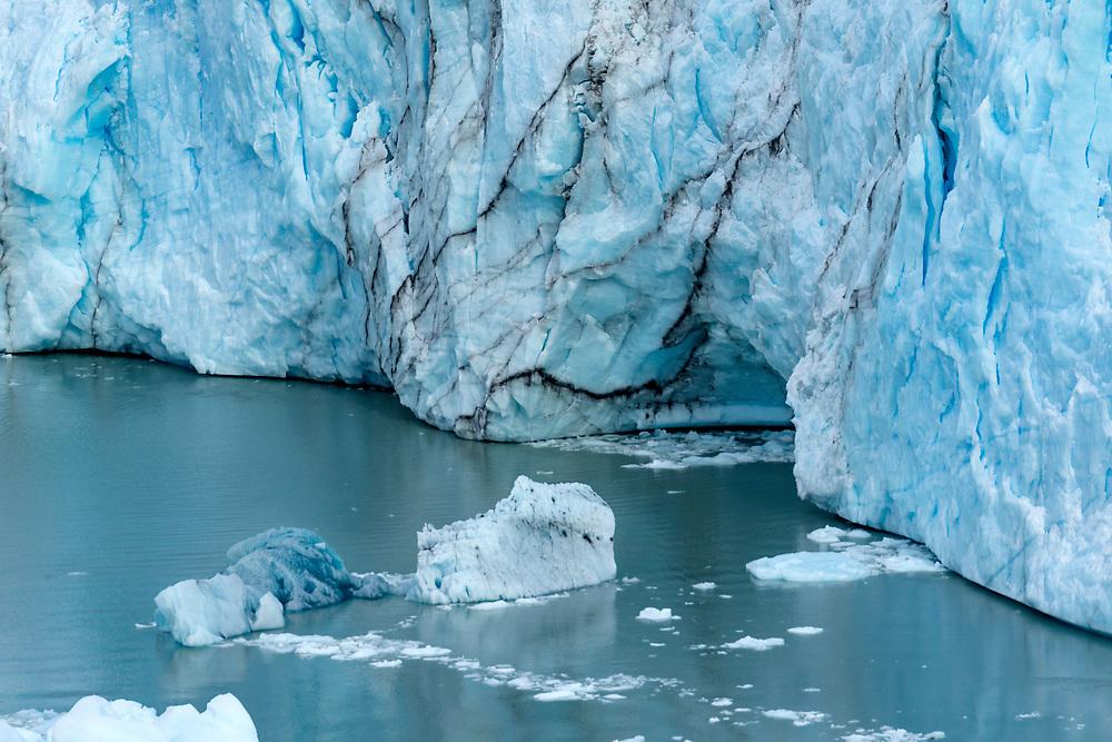 Calving glacier ice - 18 x 12