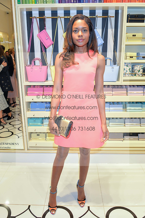 NAOMIE HARRIS at the opening party of the new Kate Spade New York store at 182 Regent Street, London on 21st April 2016.