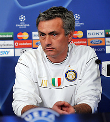 Jose Mourinho the Manager of Inter Milan  attends a press conference ahead of the Champions League game between Inter Milan and Manchester United. 23rd Feb 2009<br /> <br /> UK ONLY