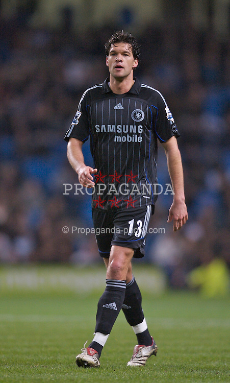 Manchester, England - Wednesday, March 14, 2007: Chelsea's Michael Ballack in action against Manchester City during the Premiership match at the City of Manchester Stadium. (Pic by David Rawcliffe/Propaganda)