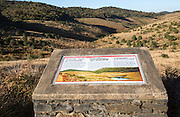 Information board about montane grassland and cloud forest environment Horton Plains national park, Sri Lanka, Asia