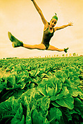 A Dancer Flies over a Cabbage Field