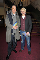 Left to right, Guy Hilton and Julius Just at the opening night of Totem by Cirque du Soleil held at The Royal Albert Hall, London on 5th January 2011.