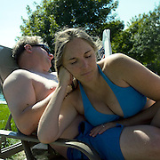 Tiff and Jim Share a Lounger, Biddeford Pool, Maine, 2007