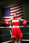 6/24/11 2:32:38 PM -- Colorado Springs, CO. -- A portrait of U.S. Olympic lightweight boxer Queen Underwood, 27, of Seattle, Wash. who will be competing for her fifth title. She began boxing in 2003 and was the 2009 Continental Champion and the 2010 USA Boxing National Champion. She is considered a likely favorite to medal at the 2012 Summer Olympics in London as women's boxing makes its debut as an Olympic sport. -- ...Photo by Marc Piscotty, Freelance.