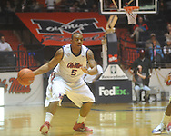 """Ole Miss guard Dundrecous Nelson (5) at the C.M. """"Tad"""" Smith Coliseum in Oxford, Miss. on Thursday, December 29, 2010. Ole Miss won 100-62. (AP Photo/Oxford Eagle, Bruce Newman)"""