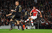 Fran Merida scores the first goal for Arsenal. Arsenal v Liverpool (2-1), The Carling Cup 4th Round, Emirates Stadium, London, 28th Oct 2009.