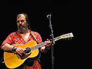 """Singer songwriter, Steve Earle performing at the Paramount Theatre in Austin Texas, April 27, 2008.  Due to his uncompromising songs he is known as """"the hardcore troubadour""""."""