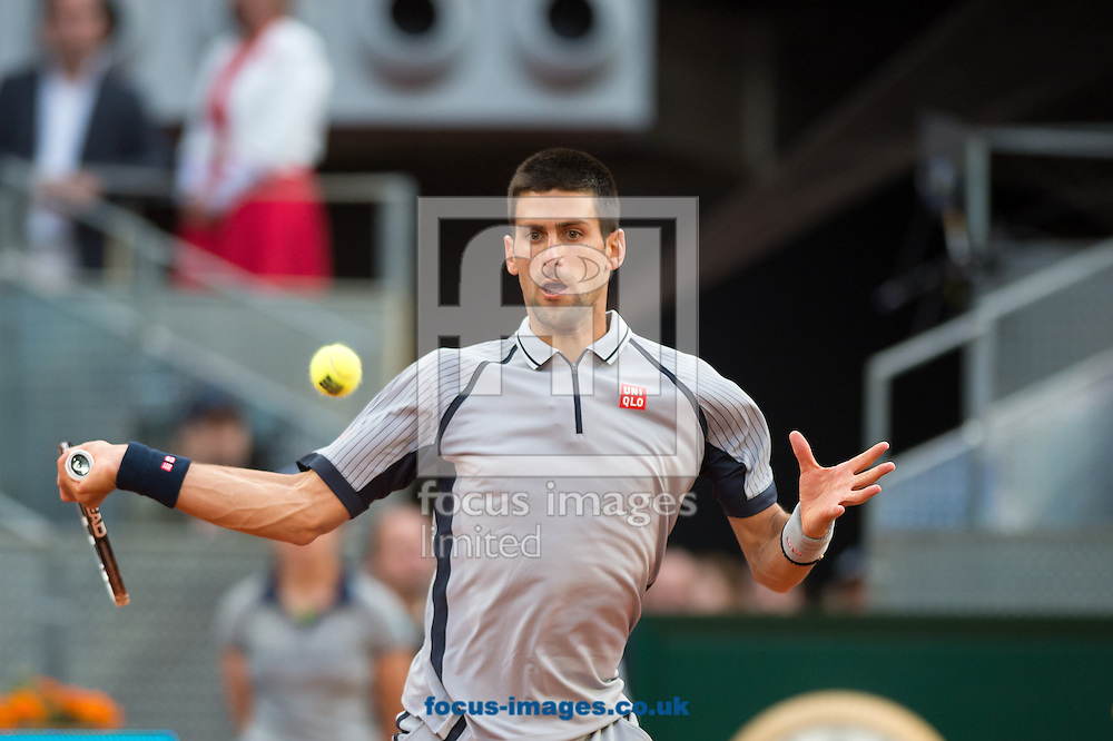 Picture by Sam Wordley/Focus Images Ltd +34 605 350 422.07/05/2013.Novak Djokovic pictured during Madrid Open at Manzanares Park Tennis Centre, Madrid.
