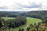 The Ardenne forest, Belgium. a region of extensive forests, rough terrain, rolling hills and ridges