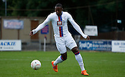 Jerome Binnom-Williams on the ball during the Pre-Season Friendly match between Hampton & Richmond and Crystal Palace at Beveree Stadium, Richmond Upon Thames, United Kingdom on 27 July 2015. Photo by Michael Hulf.