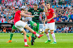 Guus Til of AZ, Sven van Beek of Feyenoord, Stijn Wuytens of AZ during the Dutch Toto KNVB Cup Final match between AZ Alkmaar and Feyenoord on April 22, 2018 at the Kuip stadium in Rotterdam, The Netherlands.