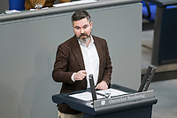 14 FEB 2019, BERLIN/GERMANY:<br /> Fabio De Masi, MdB, Die Linke, Bundestagsdebatte, Plenum, Deutscher Bundestag<br /> IMAGE: 20190214-01-072<br /> KEYWORDS: Bundestag, Debatte
