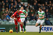 York City forward Vadaine Oliver  during the Sky Bet League 2 match between Yeovil Town and York City at Huish Park, Yeovil, England on 2 January 2016. Photo by Simon Davies.