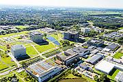 Nederland, Gelderland, Wageningen, 30-09-2015; Campus Wageningen University & Research centre, inclusief proefboerderijen en -kassen<br /> Campus Wageningen University & Research centre.<br /> luchtfoto (toeslag op standard tarieven);<br /> aerial photo (additional fee required);<br /> copyright foto/photo Siebe Swart