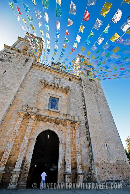 Cathedral of Nuestra Señora de la Asunción in Valladolid, Yucatan, Mexico