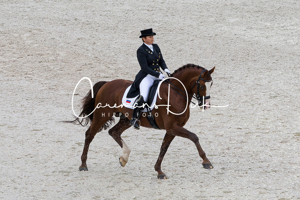 Tatiana Dorofeeva, (RUS), Kartsevo Upperville - Grand Prix Team Competition Dressage - Alltech FEI World Equestrian Games&trade; 2014 - Normandy, France.<br /> &copy; Hippo Foto Team - Leanjo de Koster<br /> 25/06/14
