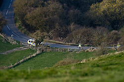 "© under license to London News Pictures.  24/03/2011. Plice search a field in Uffington, Oxfordshire for the body of  22 year-old Sian O'Callaghan who was last seen alive at SUJU nightclub in Swindon, WIlts. Taxi driver Christopher Halliwell has been charged with the murder of Sian O""Callaghan.  Photo credit should read: LNP.."