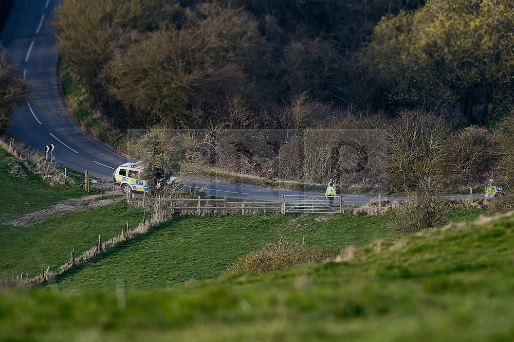 """© under license to London News Pictures.  24/03/2011. Plice search a field in Uffington, Oxfordshire for the body of  22 year-old Sian O'Callaghan who was last seen alive at SUJU nightclub in Swindon, WIlts. Taxi driver Christopher Halliwell has been charged with the murder of Sian O""""Callaghan.  Photo credit should read: LNP.."""