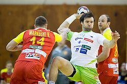 Klemen Cehte of Slovenia during friendly handball match between National Teams of Slovenia and F.Y.R. of Macedonia before EHF EURO 2016 in Poland on January 4, 2015 in Sports hall Krsko, Krsko, Slovenia. Photo by Urban Urbanc / Sportida