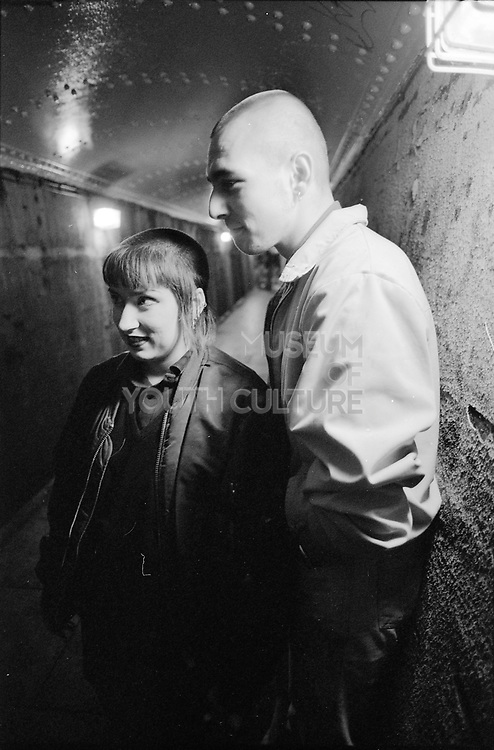 Ben and Chick in Wycombe Underpass, UK, 1980s.