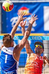23-08-2019 NED; DELA NK Beach Volleyball Qualification, Scheveningen<br /> First day NK Beachvolleyball / Shaun Sturgess
