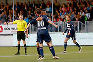 13-05-2016 VOETBAL:ALMERE CITY - WILLEM II:ALMERE<br /> Erik Falkenburg van Willem II viert zijn doelpunt met Funso Ojo van Willem II <br /> <br /> Foto: Geert van Erven