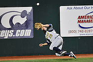 MANHATTAN, KS - APRIL 22:  Left fielder Francis Larson #20 of the UC Irvine Anteaters makes a diving catch for the final out in the bottom of the eighth inning against the Kansas State Wildcats on April 22, 2008 at Tointon Stadium in Manhattan, Kansas.  UC Irvine defeated Kansas State 4-3.  (Photo by Peter Aiken/Getty Images)