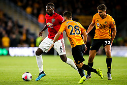 Paul Pogba of Manchester United takes on Joao Moutinho of Wolverhampton Wanderers - Mandatory by-line: Robbie Stephenson/JMP - 19/08/2019 - FOOTBALL - Molineux - Wolverhampton, England - Wolverhampton Wanderers v Manchester United - Premier League