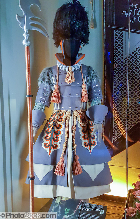 Winkie Guard costume from The Wizard of Oz, 1939. This photo is from the EMP Museum, now in 2016 called MOPOP (Museum of Pop Culture), Seattle, Washington, USA. For licensing options, please inquire.