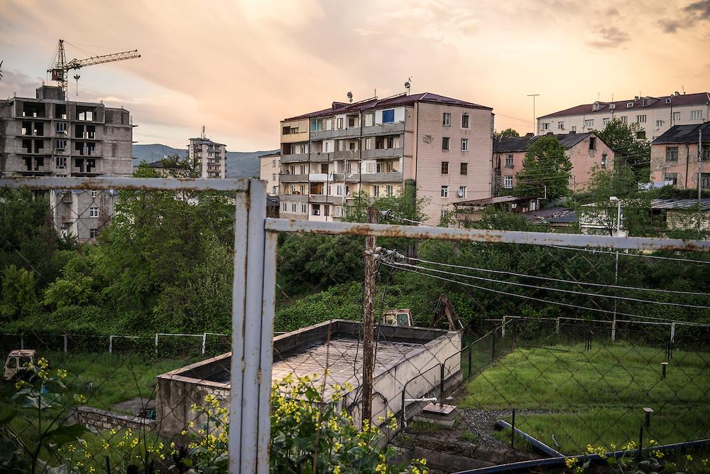 Apartment blocks on Sunday, May 8, 2016 in Stepanakert, Nagorno-Karabakh.