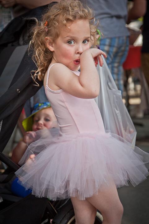 Addison McBeth, age 4, at the Concord Farmer's Market