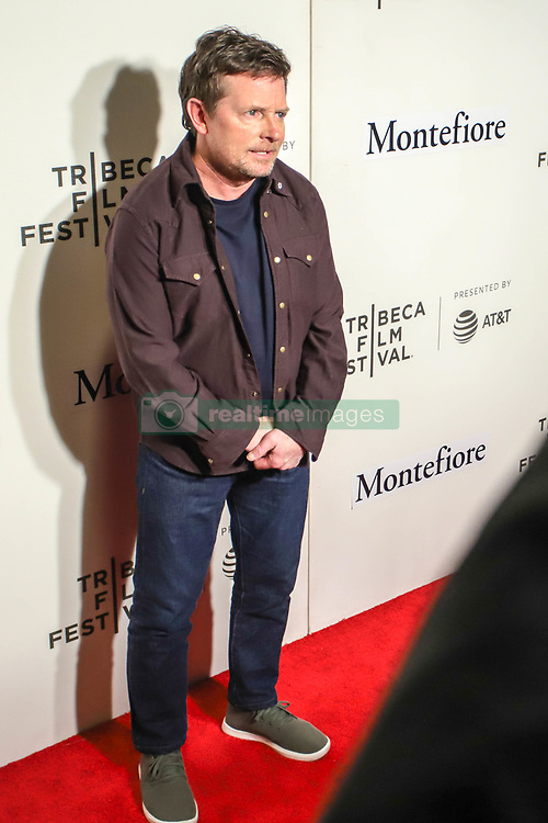 April 30, 2019 - New York, New York, United States - Michael J. Fox attends red carpet for the Tribeca Talks - Storytellers - 2019 Tribeca Film Festival at BMCC Tribeca PAC on April 30, 2019 in New York City. (Credit Image: © William Volcov/ZUMA Wire)