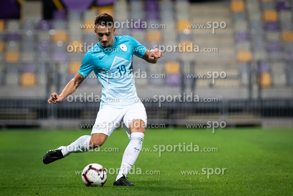 Matija Rom of Slovenia during friendly Football match between U21 national teams of Slovenia and England, on October 11, 2019 in Ljudski Vrt, Maribor, Slovenia. Photo by Blaž Weindorfer / Sportida