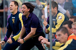Zlatko Zahovic of Maribor celebrates during football match between NK Primorje and NK Maribor of 1st Slovenian football league PrvaLiga, on May 21, 2011 in Ajdovscina, Slovenia. Maribor defeated Primorje 2-1 and became Slovenian national Champion 2010/2011. (Photo By Vid Ponikvar / Sportida.com)