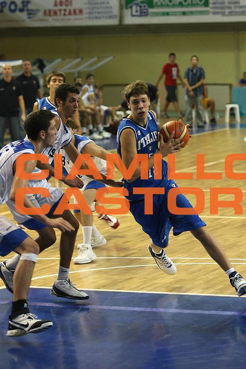 DESCRIZIONE : Rethimnon Crete Termosteps U16 European Championship Men Qualifying Round Israel Italy<br /> GIOCATORE : Baldi Rossi<br /> SQUADRA : Italy Italia Nazionale Italiana Uomini Under 16<br /> EVENTO : Rethimnon Crete Termosteps U16 European Championship Men Creta Europeo U16 Uomini <br /> GARA :  Israel Italy Israele Italia<br /> DATA : 26/07/2007 <br /> CATEGORIA : Penetrazione<br /> SPORT : Pallacanestro <br /> AUTORE : Agenzia Ciamillo-Castoria/M.Marchi <br /> Galleria : Europeo Under 16 <br /> Fotonotizia : Rethimnon Crete Termosteps U16 European Championship Men Qualifying Round Iseael Italy<br /> Predefinita :