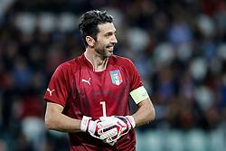 Goalkeeper Gianluigi Buffon of Italy looks on - Photo mandatory by-line: Rogan Thomson/JMP - 07966 386802 - 31/03/2015 - SPORT - FOOTBALL - Turin, Italy - Juventus Stadium - Italy v England - FIFA International Friendly Match.