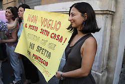 "August 29, 2017 - Naples, Italy - Union Docenti demonstration at the ''Regione Campania''The ""Unione Docenti Immobilizzati""Campania  has launched a demonstration. at the'' Regione Campania'' at Palazzo Santa Lucia in Napoli,to present a document that encloses the proposals of the teachers who have been transferred to the centers of the center / north as a result of the national recruitment application provided by law. (Credit Image: © Salvatore Esposito/Pacific Press via ZUMA Wire)"