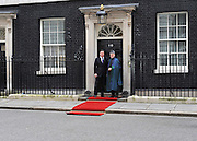 London News pictures. 01.03..2011. British Prime Minister David Cameron meets Afghanistan's President Karzai today (3rd March 2011) in Downing Street, London. Picture Credit should read Stephen Simpson/LNP