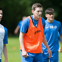 St Johnstone FC Training….Balir Alston pictured with Eoghan McCawl and George Hunter pictured during pre-season training.<br />Picture by Graeme Hart.<br />Copyright Perthshire Picture Agency<br />Tel: 01738 623350  Mobile: 07990 594431