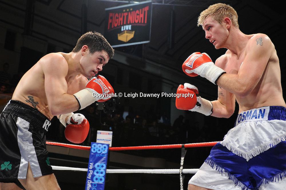 John Ryder defeats Luke Osman in a 6x3min Middleweight contest at York Hall 09.11.11. Matchroom Sport. Photo credit: © Leigh Dawney 2011.