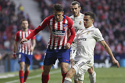 February 9, 2019 - Madrid, Madrid, Spain - Reguilon of Real Madrid in action during La Liga Spanish championship, , football match between Atletico de Madrid and Real Madrid, February 09th, in Wanda Metropolitano Stadium in Madrid, Spain. (Credit Image: © AFP7 via ZUMA Wire)